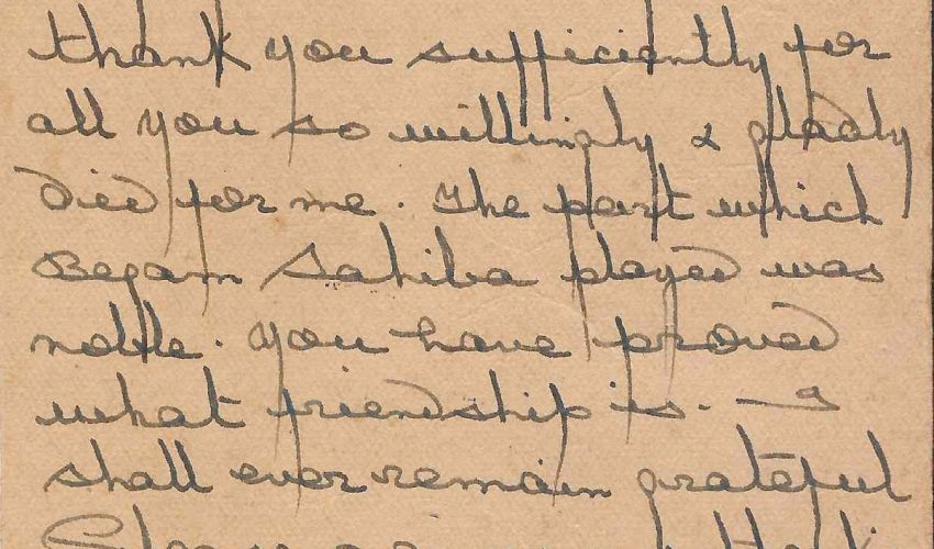 Rediscovering a Forgotten Partition-Era Letter